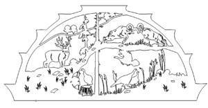 Schwibbogen versch. Tiere - candle arch div. Animals