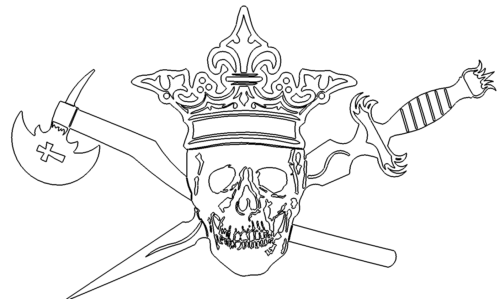 Totenkopf mit Krone - Skull with crown