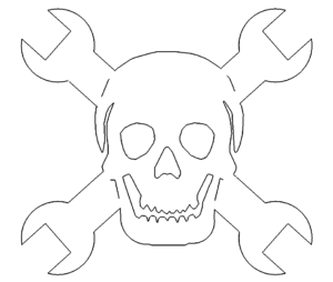 Totenkopf als Schraubenschlüssel - Skull as wrench