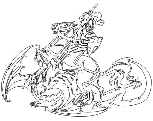 St George der Ritter auf dem Pferd