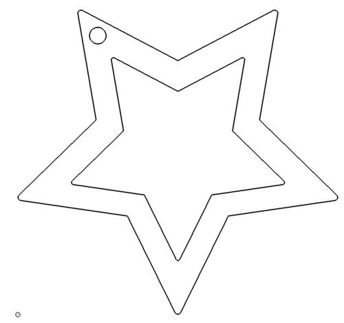stern als anhänger  das download portal für dxf dwg dateien