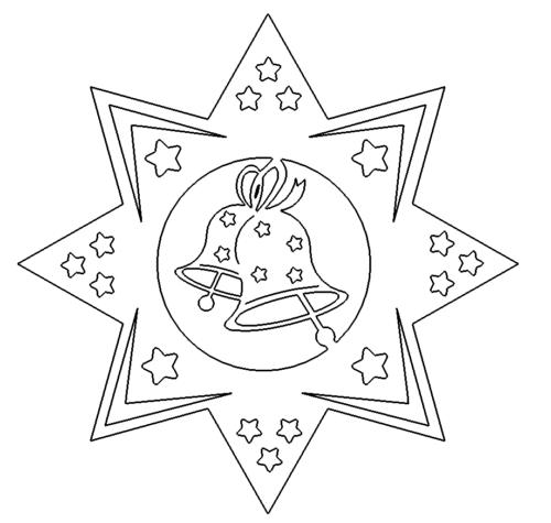 Stern mit Glocken - Star with bells