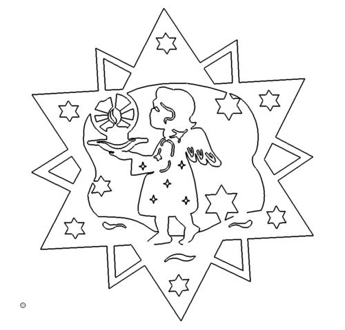 Stern mit Engel - Star with Angel