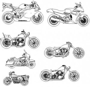 7 Motorräder - 7 motorcycles