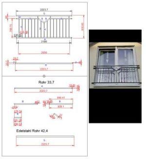 Fenstergitter Geländer  - Window lattice railings