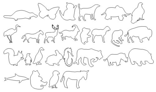 Paket mit Tieren - Package with Animals