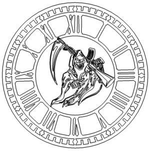 Uhr mit dem Tod - Clock with death