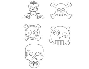 verschiedene Totenköpfe