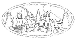 Train In Mountain Dxf