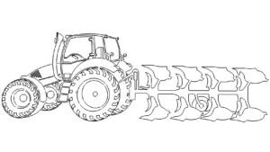 Trecker pflügen - plow tractor