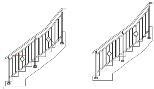 Treppengeländer abnehmbar - Bannister removable