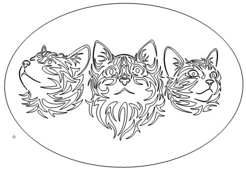 Katzen Bild - Tribal Cats