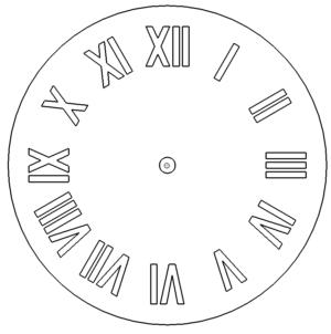Uhr mit römischen Zahlen -  Clock with roman numerals