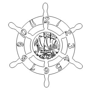 Wikingerschiff Uhr - Viking Ship Clock