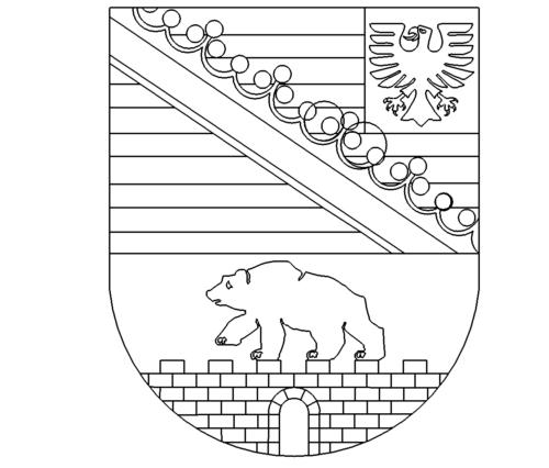 Wappen Sachsen Anhalt - Coat of arms Saxony Anhalt
