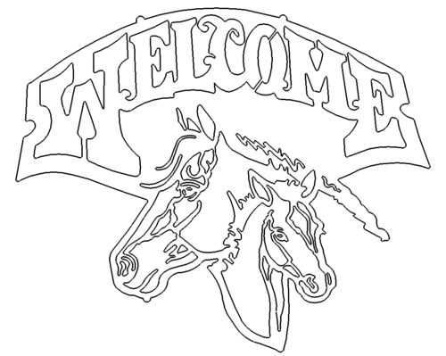 Welcome Horse Dxf