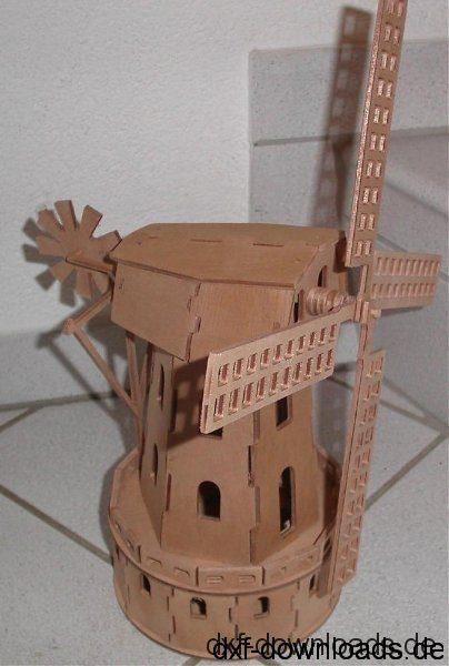 Windmühle 3D Modell - Windmill 3D Model